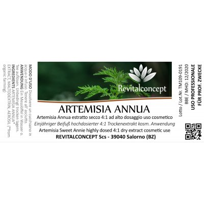 Artemisia Sweet Annie highly dosed 4:1 dry extract cosmetic use