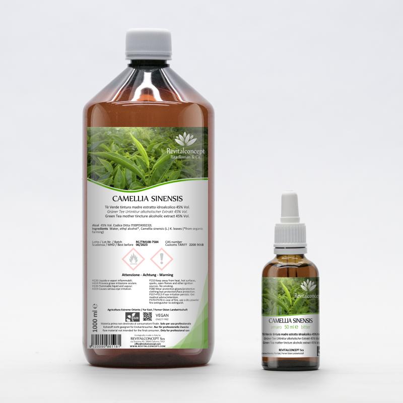 Green tea tincture alcoholic extract...